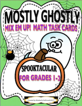 Halloween Math Mostly Ghostly + Spooky Spider's Game  GRADES 1-2