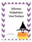 Fall Halloween Multiplication Word Problem Task Cards