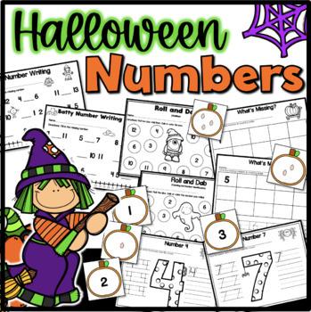 Fall/Halloween Number Writing {Kindergarten}