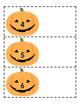 Fall/Halloween Numbers and Shapes Games- Pumpkin Theme