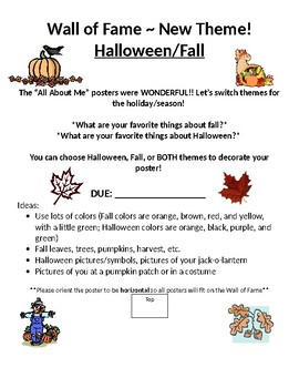 Fall / Halloween Poster - Wall of Fame!