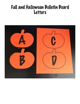 Fall/Halloween Pumpkin Bulletin Board Letters