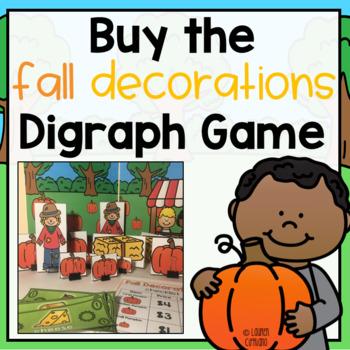 Fall Halloween Pumpkin Patch Digraph Game ch sh th wh
