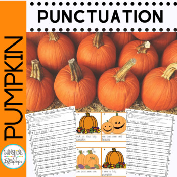 Punctuation Worksheets Fall Pumpkin Theme Common Core Aligned