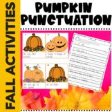 Punctuation Worksheets Fall Pumpkin Theme