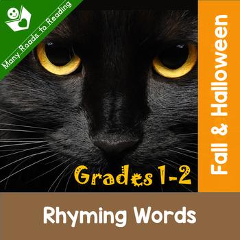 Fall and Halloween Rhyming Words K-2