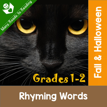 Fall & Halloween Rhyming Words: Grades K-2