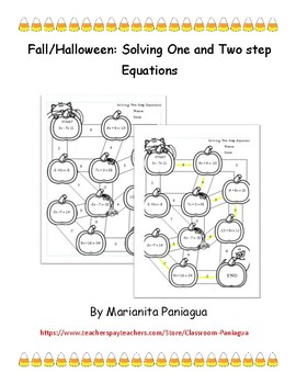 Fall/ Halloween: Solving One and Two Step Equations