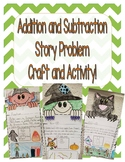 Fall Halloween Story Problem Craft and Activity