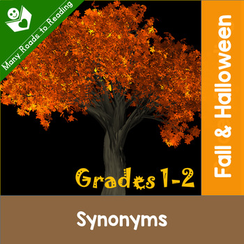 Fall & Halloween Synonyms: Grades 1-2