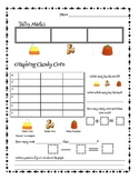 Fall Halloween Tally Marks Graphing withCandy Corn Indian Corn & Candy Pumpkins