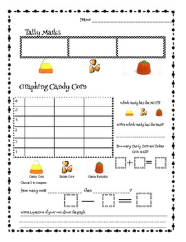 fall halloween tally marks graphing withcandy corn indian corn candy pumpkins. Black Bedroom Furniture Sets. Home Design Ideas