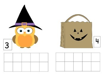 Fall & Halloween Ten Frames (Playdough mats)