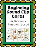 Halloween Beginning Sounds Clip Cards