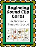 Beginning Sounds Clip Cards (Fall, Halloween, & Thanksgivi