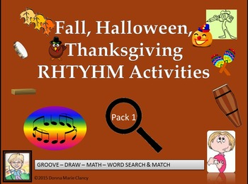 Fall, Halloween, Thanksgiving Rhythm Activity Pack 1