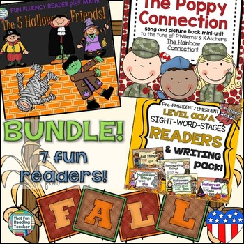 Fall Readers: Readers for Autumn Bundle (Veterans Day version)!