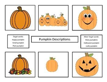 Fall/Halloween Theme Description Practice
