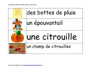 Affiche: Vocabulaire de l'automne et de l'Halloween / Poster Fall Vocab.  Fre