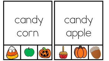 Fall & Halloween Writing Centers, Read & Clip, Letters, Alphabet, Preschool