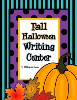 Fall Halloween Writing Workstation/Center Pack
