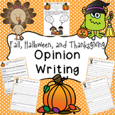 Fall, Halloween, and Thanksgiving Opinion Writing