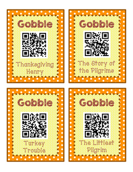 Fall, Halloween, and Thanksgiving QR Code Bundle