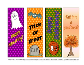 Fall & Hallowen Bookmarks