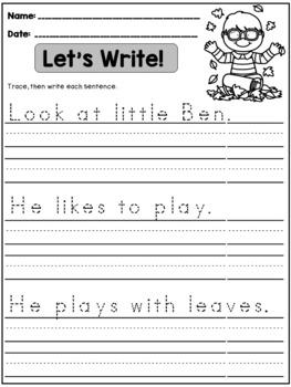 Fall Handwriting Practice (Sentences)