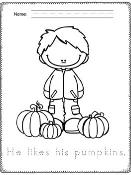 Fall Coloring Pages - Fall Handwriting Practice