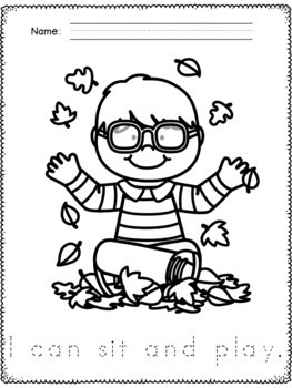 Fall Coloring Pages and Handwriting Practice