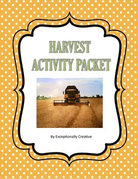 Fall Harvest Activity Packet for the Autism Classroom