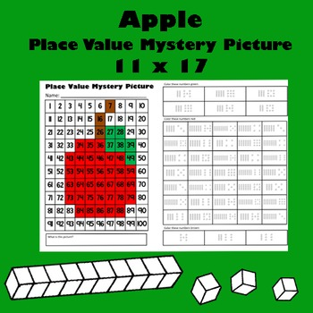 Fall Harvest Apple Place Value Math Mystery Picture - 11x17 - Back To School