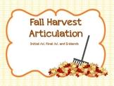 Fall Harvest Articulation - /s/ & s-blends