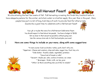 Fall Harvest Feast