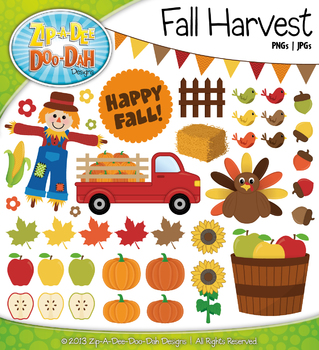 Fall Harvest Clipart {Zip-A-Dee-Doo-Dah Designs}