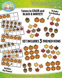 Fall Harvest Counting and Ten Frames Math Clipart {Zip-A-Dee-Doo-Dah Designs}
