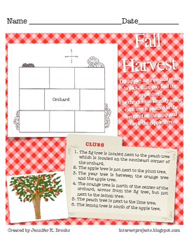 Fall Harvest Deductive Thinking Worksheet