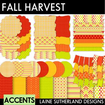 Fall Harvest Digital Paper & Accent Set