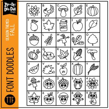 Fall Harvest Doodle Font {Zip-A-Dee-Doo-Dah Designs}