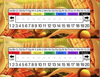 Fall Harvest Fields Desk Name Tag Plates Set
