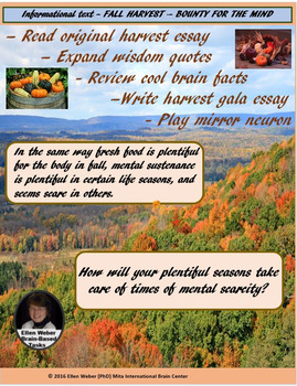 Fall Harvest Informational Text and Writing Tasks