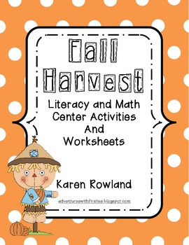 Fall Harvest Literacy and Math Centers