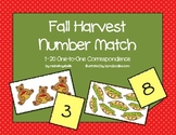 Fall Harvest Number Match & One-to-One Correspondence with
