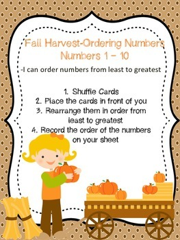 Fall Harvest Ordering Numbers-Differentiated