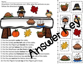Fall Harvest Preposition Book