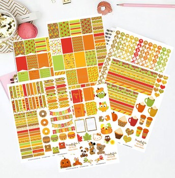 Fall Harvest Printable Planner Stickers