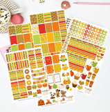 October Fall Harvest Printable Planner Stickers