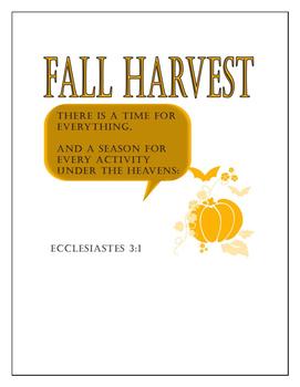Fall Harvest Printables - Primary Grades - Religious