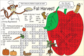 Fall Harvest Two-Page Activity Set